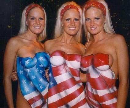 You Have To Love The Red White and Boobs.. I Mean Blue!!